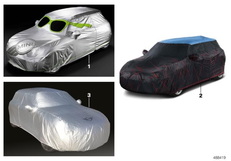 Original Bmw Car Covermini Cabrio R52 Hubauer Shop De