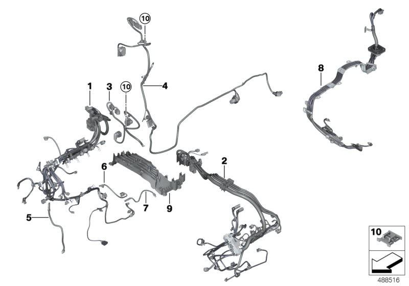 Original Bmw Wrng Harnessmotor Sensorsystem Module Z4 Roadster