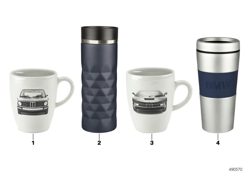 BMW Genuine Main Collection Thermo Mug With Logo in Blue//Silver 80282454639