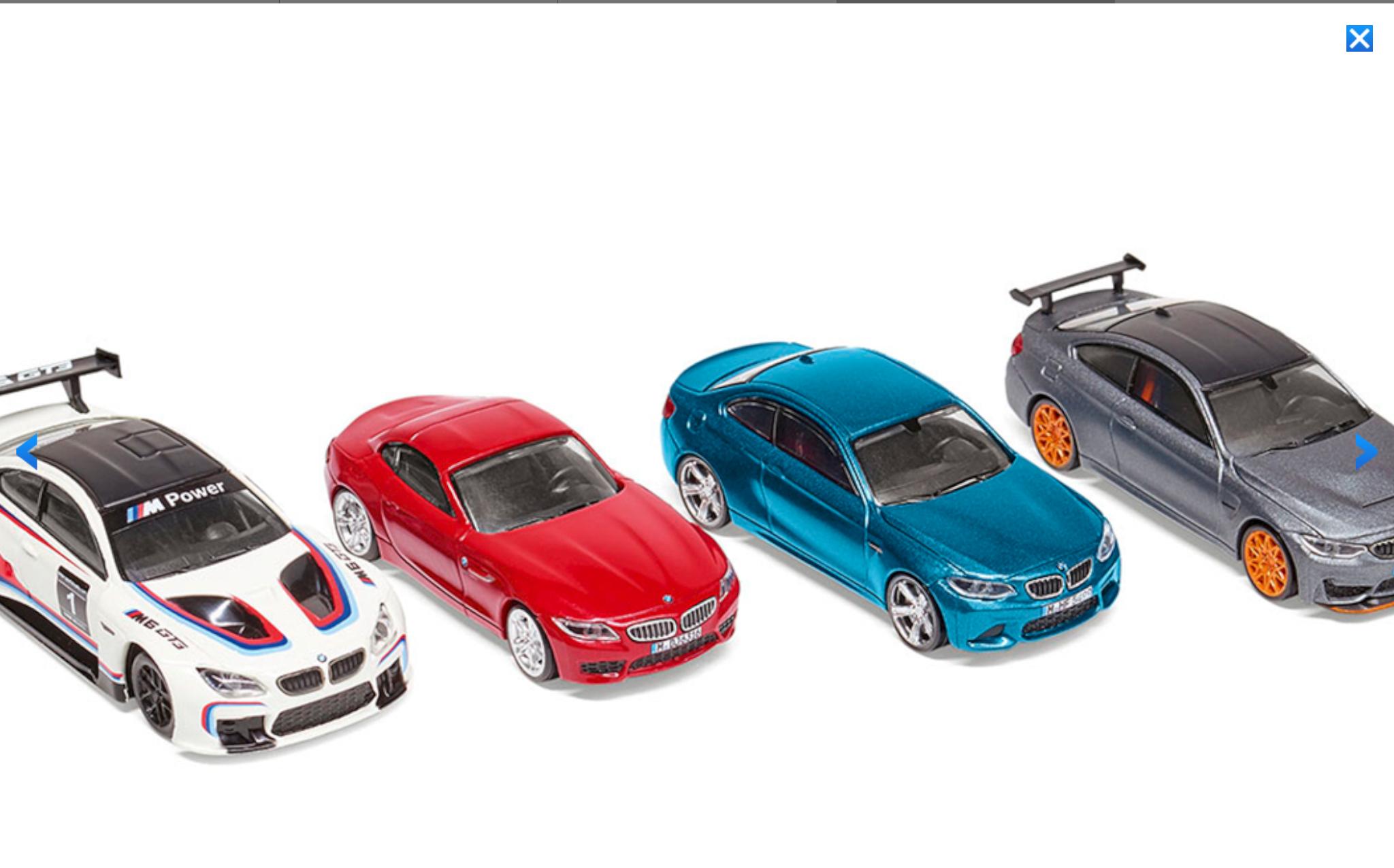 Genuine BMW M6 Pullback Toy Car in Red