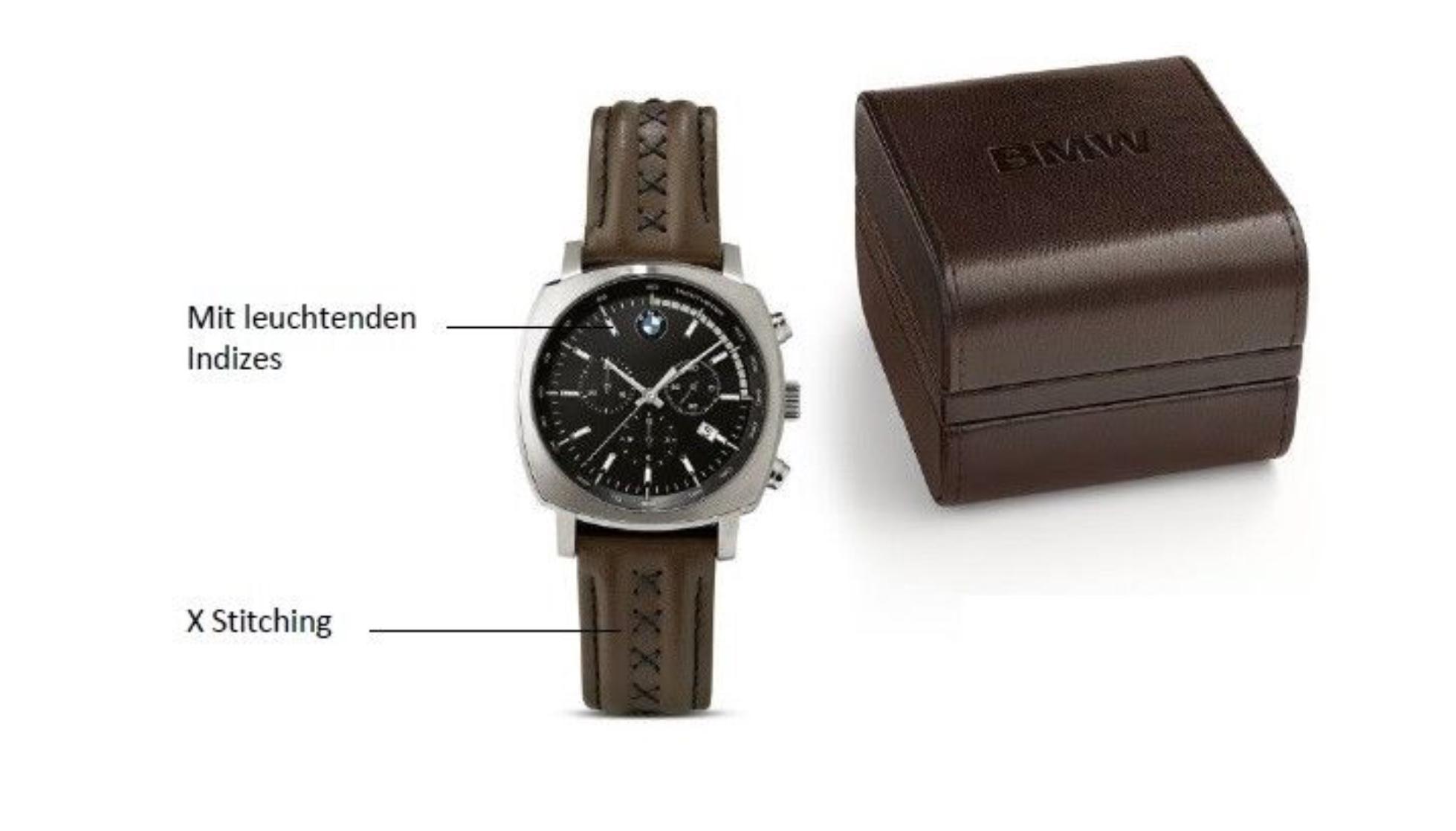 BMW Armbanduhr Chronograph X BROWN SILVER (80262454852) 3b675d90e3e