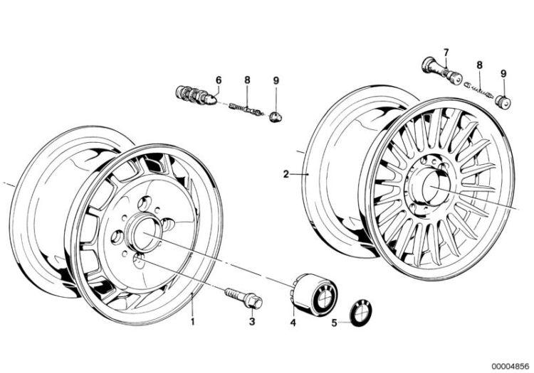 original bmw rubber valve 3er e30 length   42 5mm