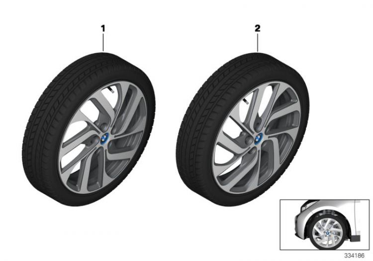 RDCi wheel & tire, winter, black, Number 01 in the illustration