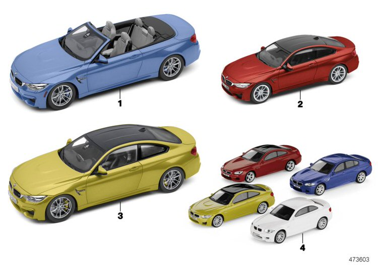 BMW Miniature 1:18 M4 (F83) Mineral Grey