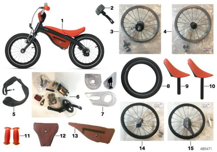 BMW Kidsbike Griffe orange (80932446780)