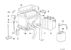 Original BMW BATTERY HOLD DOWN  (61211388963)