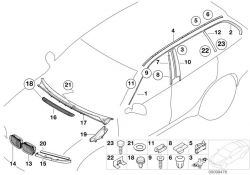 Original BMW cover, windscreen panel E46 (51718208483)