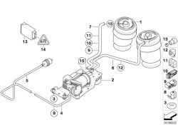 Original BMW Air supply device  (37206859714)