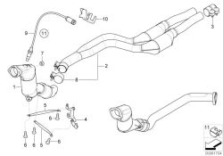 Original BMW RP catalytic converter  (18307785482)