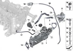 Original BMW Hose for EGR cooler  (11718575403)