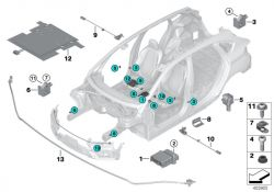 Original BMW 51647245792 Stütze rechts 1er 2er 3er 4er