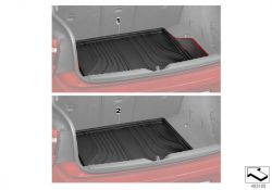 Original BMW Fitted luggage compartment mat Modern (51472350540)