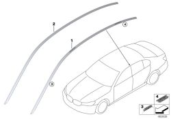 Original BMW Roof molding prime-coated left  (51137410313)