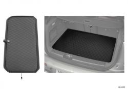 Original BMW Fitted luggage compartment mat essential-black (51472447613)