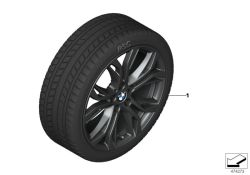 Original BMW RDCi Wheel/Tyre set Winter black 225/50R18 95H