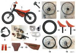 BMW Kidsbike Rahmentasche orange (80932446789)