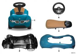TOP Original BMW BMW Baby Racer III WHITE//RASPB.RED