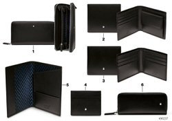 Original MONTBLANC for BMW wallet wo.coin holder BLACK