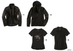 BMW M jacket ladies black, S