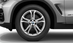 Original BMW wheel with tyre, X3/X4 winter light alloy 225/60R18 104H RDC